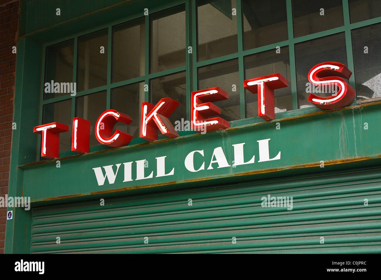 Cabina di biglietto Immagini Stock