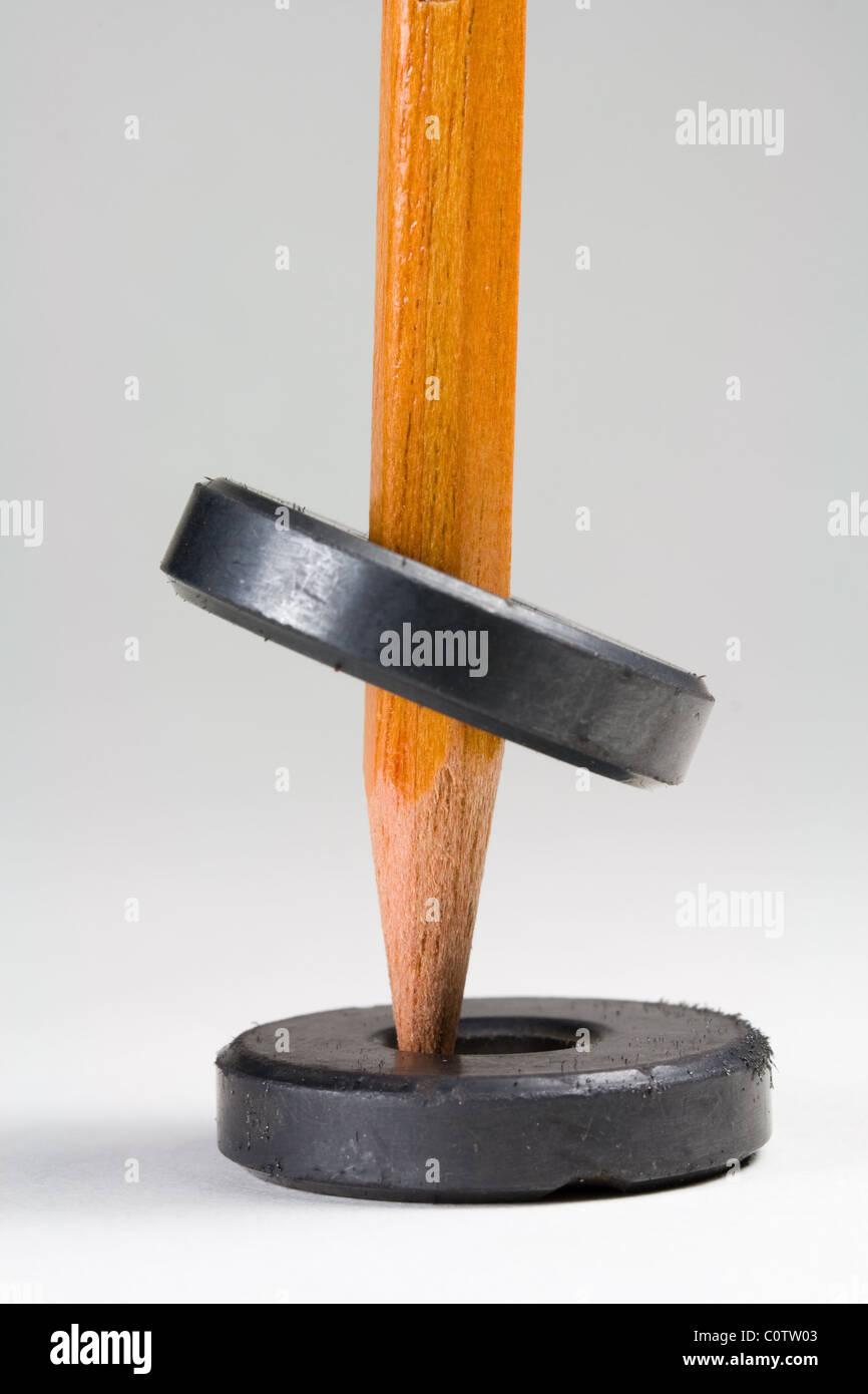 Magnete levitante - Dimostrazione della scienza Immagini Stock