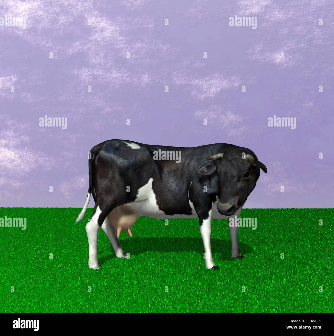 Illustrazione di vacca Immagini Stock