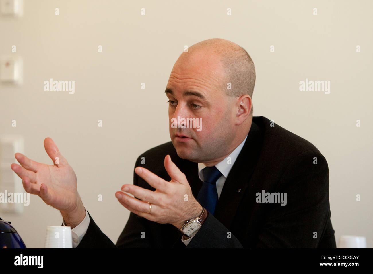 Fredrik Reinfeldt, il Primo ministro svedese. Immagini Stock