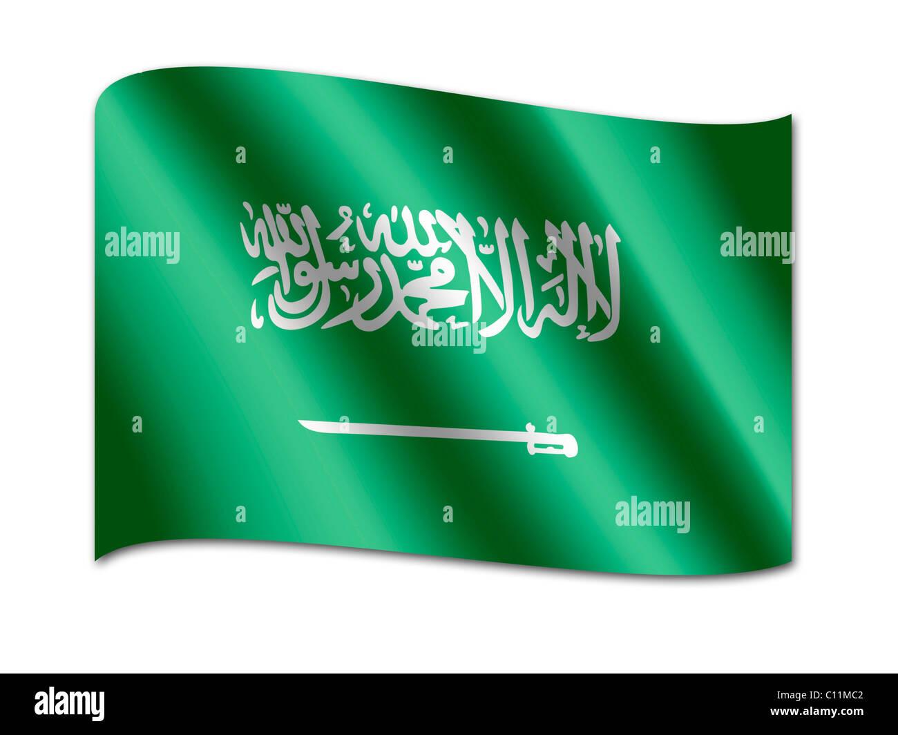 Bandiera della Arabia Saudita Immagini Stock