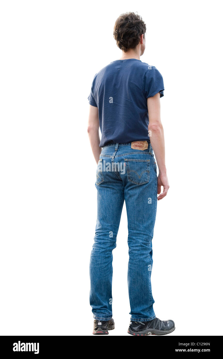 T Shirt Jeans Da E Dietro Giovane Con LqGMSUzVp