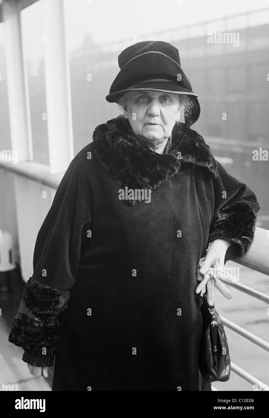 American riformista sociale attivista e pacifista di Jane Addams (1860 - 1935) - co-vincitore del Premio Nobel per Immagini Stock
