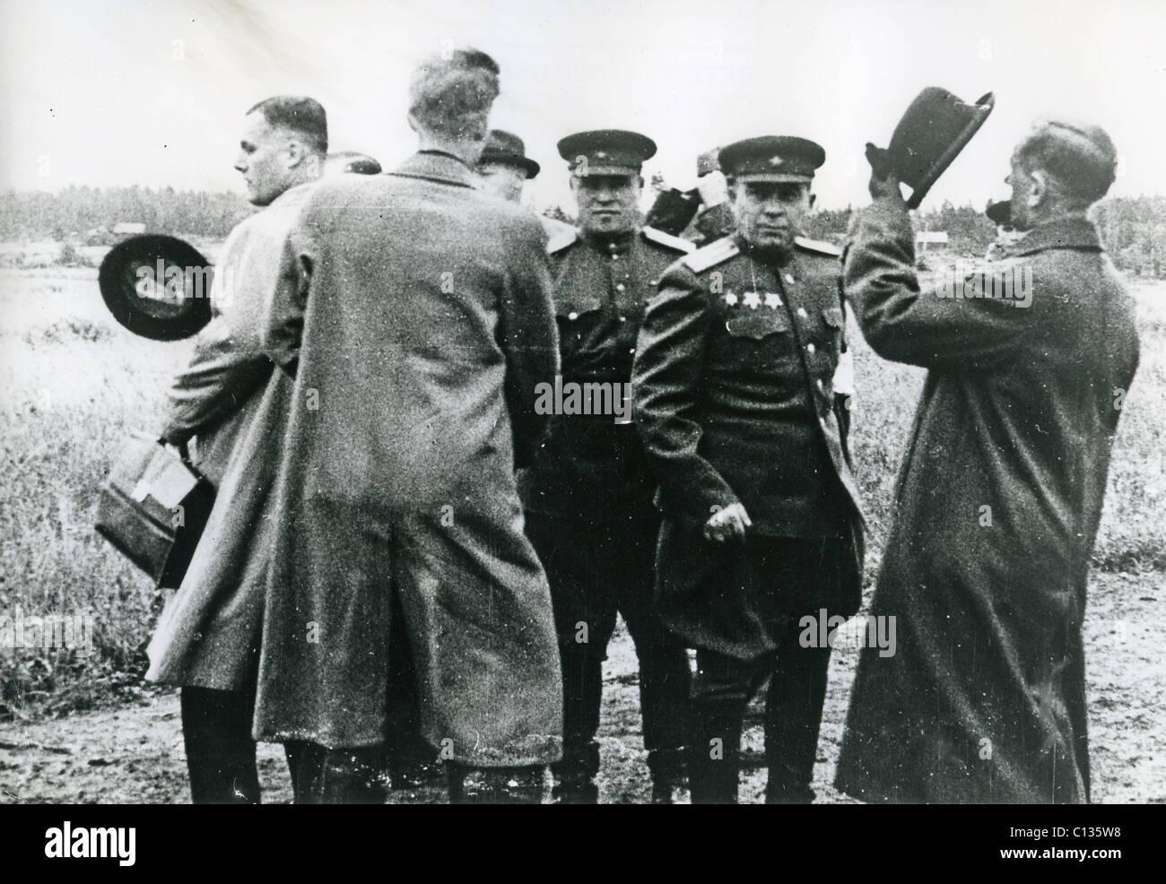 Inverno 1939-1940 guerra i rappresentanti finlandesi prepararsi al viaggio a Mosca i primi di marzo 1940 guardato Immagini Stock