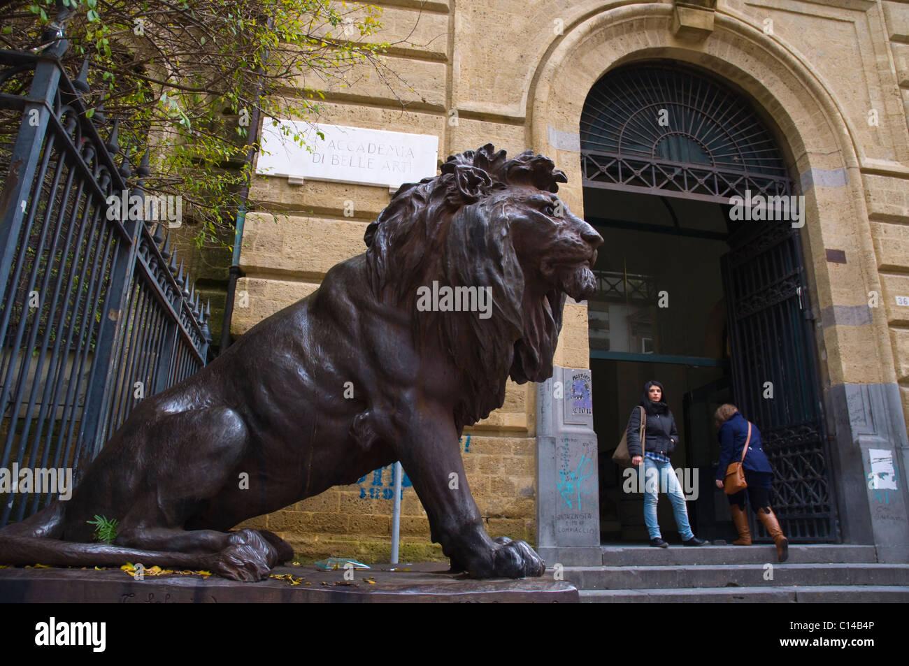 Accademia di Belli Arti all'Accademia d'arte centro di Napoli Campania Italia Europa Immagini Stock