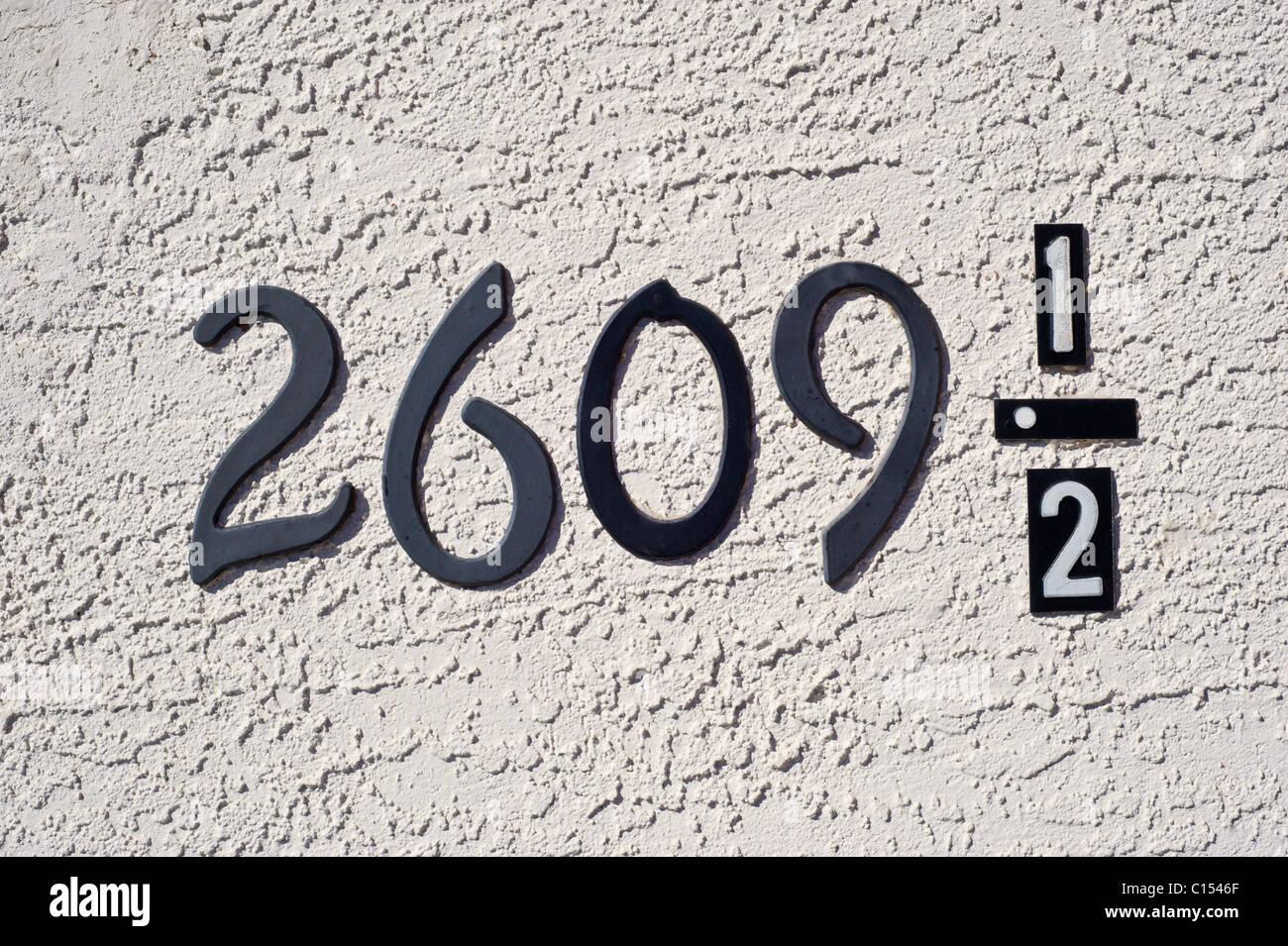Un insolito indirizzo a Roswell, New Mexico. Immagini Stock