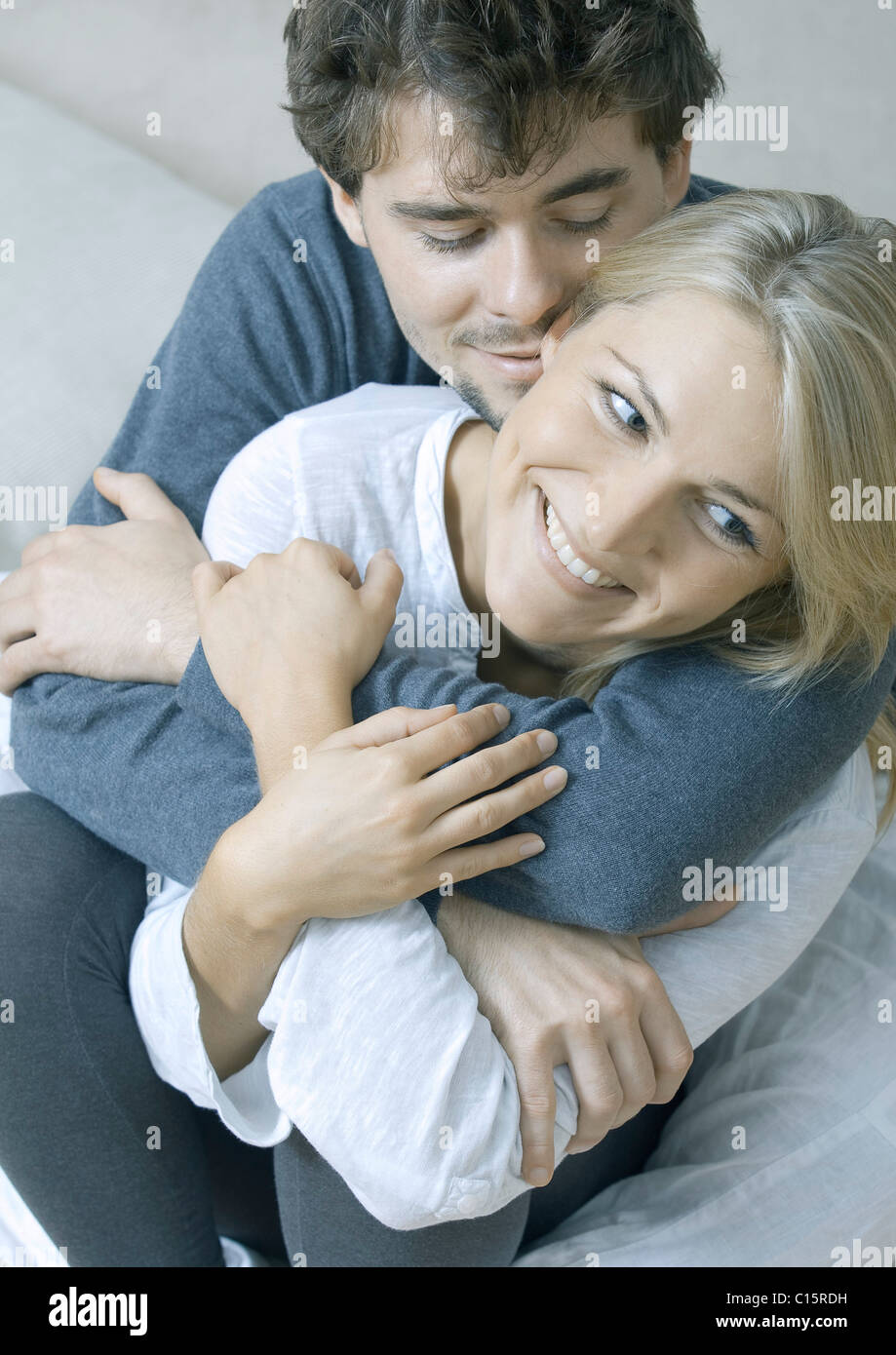 Affettuosa coppia giovane Immagini Stock