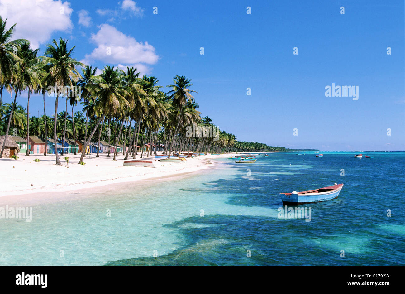 Repubblica Dominicana, Saona Island, Mano Juan village Immagini Stock