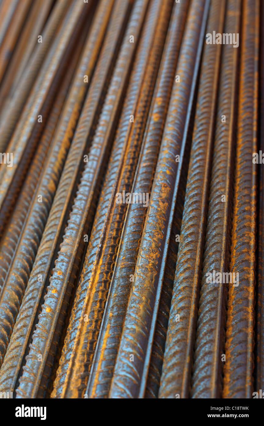 Barre in acciaio per calcestruzzo reeinforcement Immagini Stock