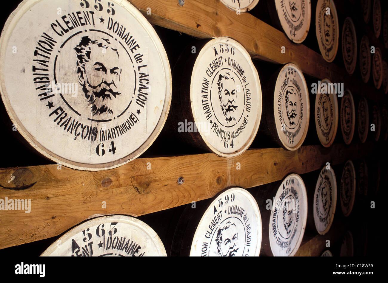 Francia, Martinica, Le Francois, dimora Clement distillery, rhum cantina di invecchiamento Immagini Stock