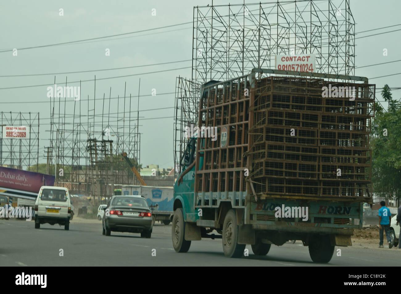 Il traffico in Gurgaon, India Immagini Stock
