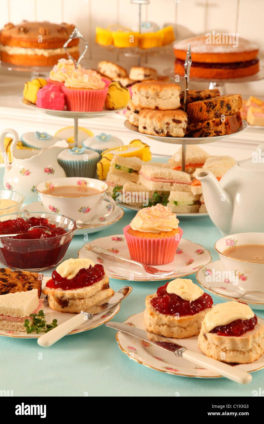 BRITISH il tè del pomeriggio Immagini Stock
