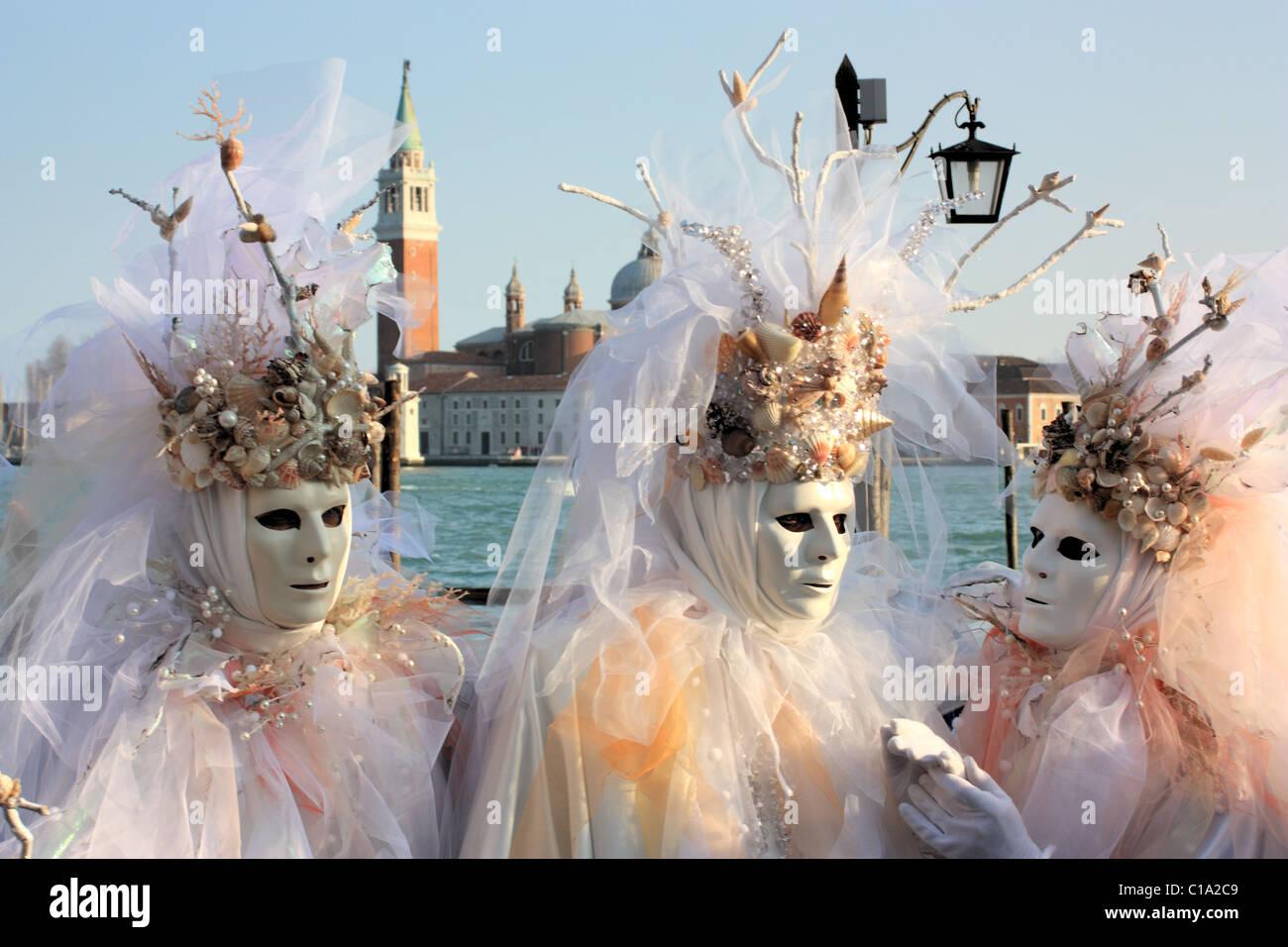 Carnevale a Venezia, Italia. IT: il Carnevale di Venezia, Italia. DE: Karneval in Venedig, ITALIEN. FR: Carnaval Immagini Stock