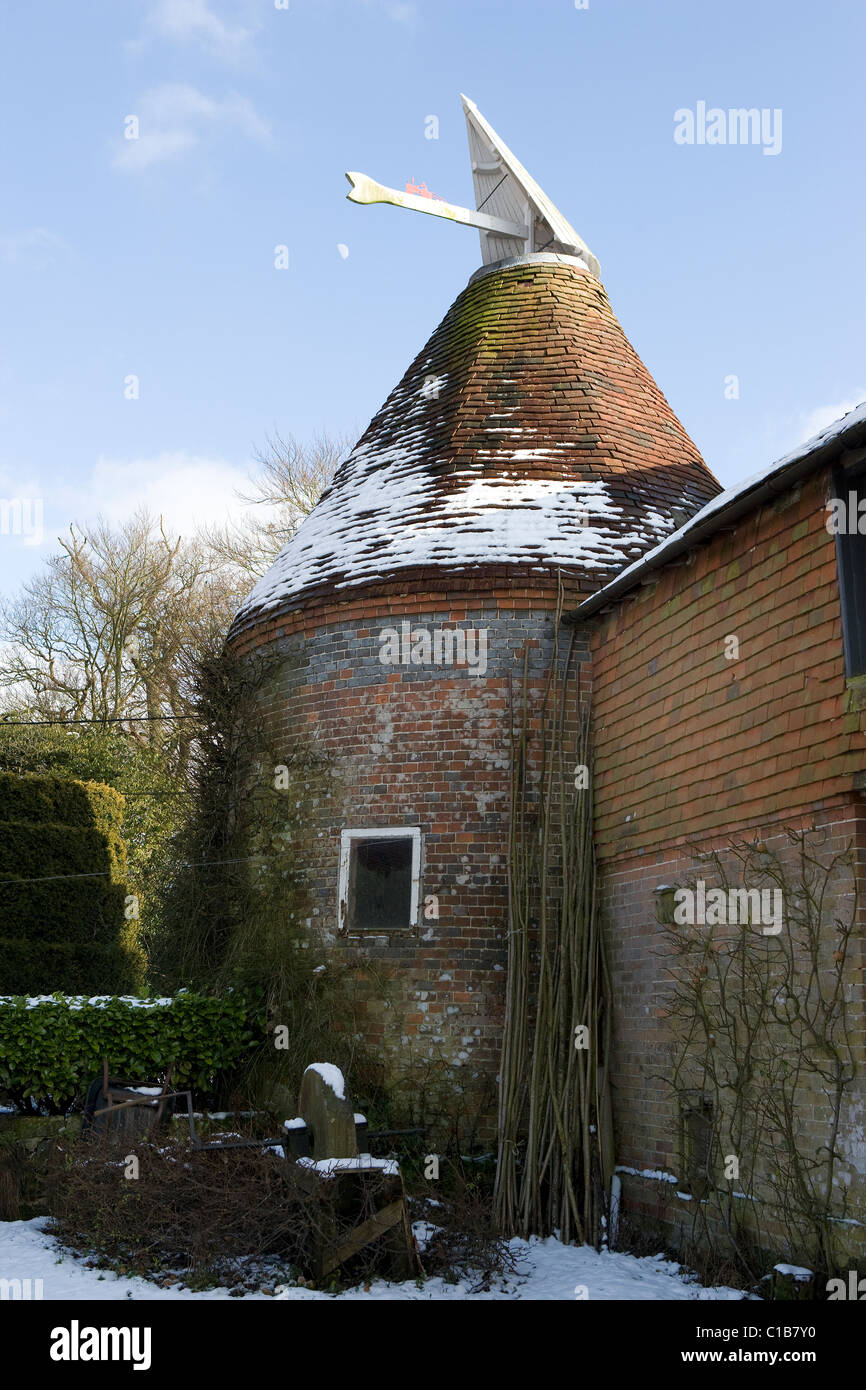 Oast House al cielo Farm, East Sussex Immagini Stock