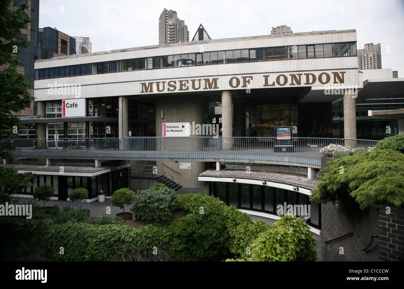 Vista generale gv del Museo di Londra a Londra, Inghilterra. Immagini Stock