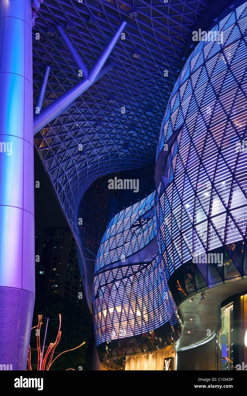 Architettura di ION Orchard Mall. Orchard Road, Singapore Immagini Stock