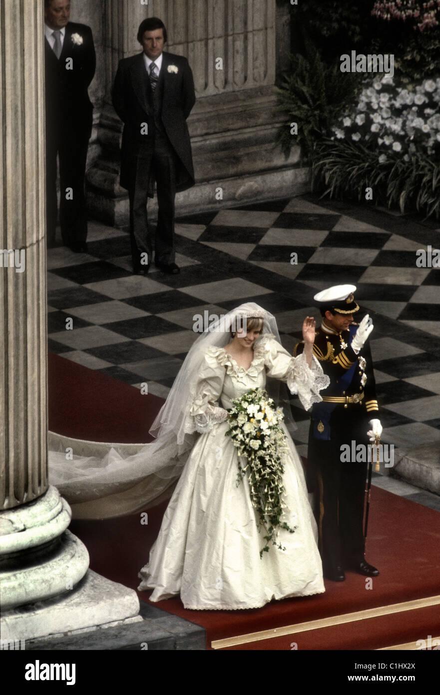 Royal Wedding del principe Charles e Lady Diana Spencer Foto Stock
