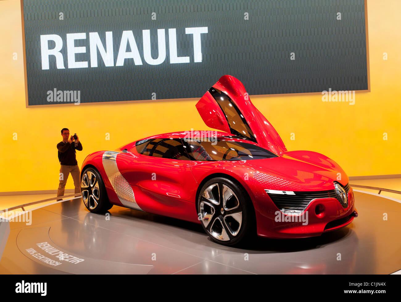 Renault Dezir Concept al Salone di Ginevra 2011 la Svizzera Immagini Stock