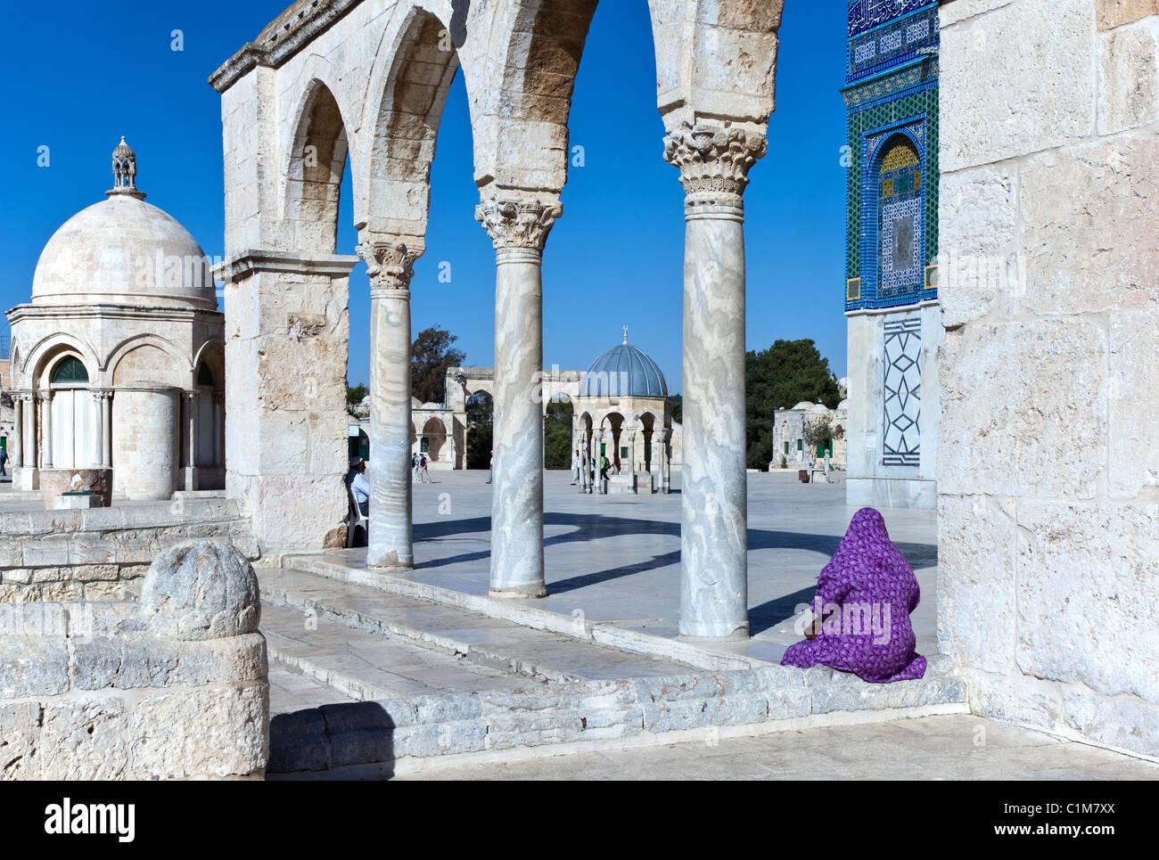 Israele, Gerusalemme, un gateway per il Monte del Tempio (Har Habait) Immagini Stock