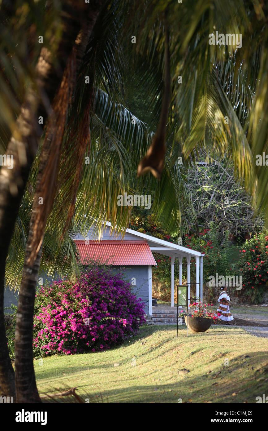 Francia, Martinica, Le Francois, dimora di Clemente, giardini Immagini Stock