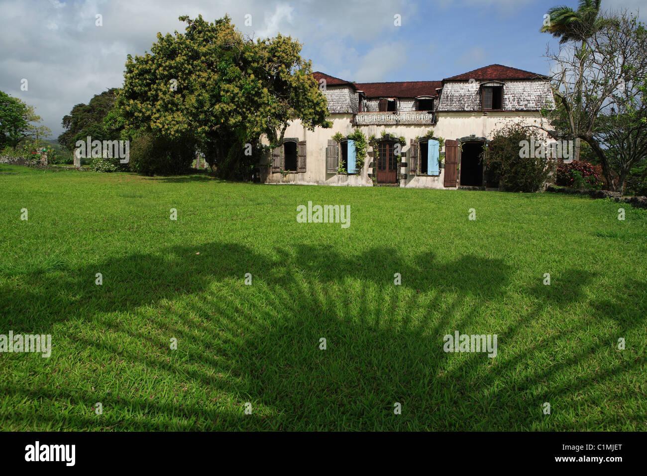 Francia, Martinica (Indie occidentali francesi), dimora Leyritz, un ex mansion e rum distillery, ora un hotel di Immagini Stock