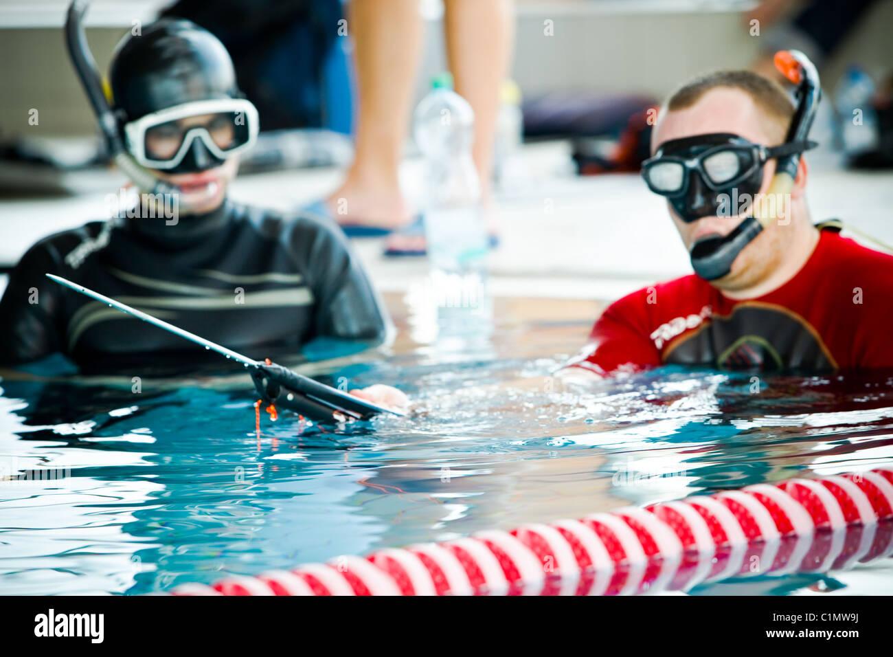 Diving Apnea Festival - Wroclaw 2011 Immagini Stock