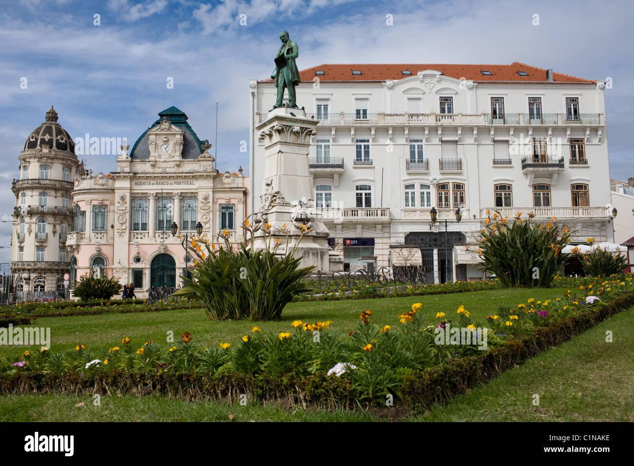 Largo Da Portagem, Coimbra, Portogallo Immagini Stock