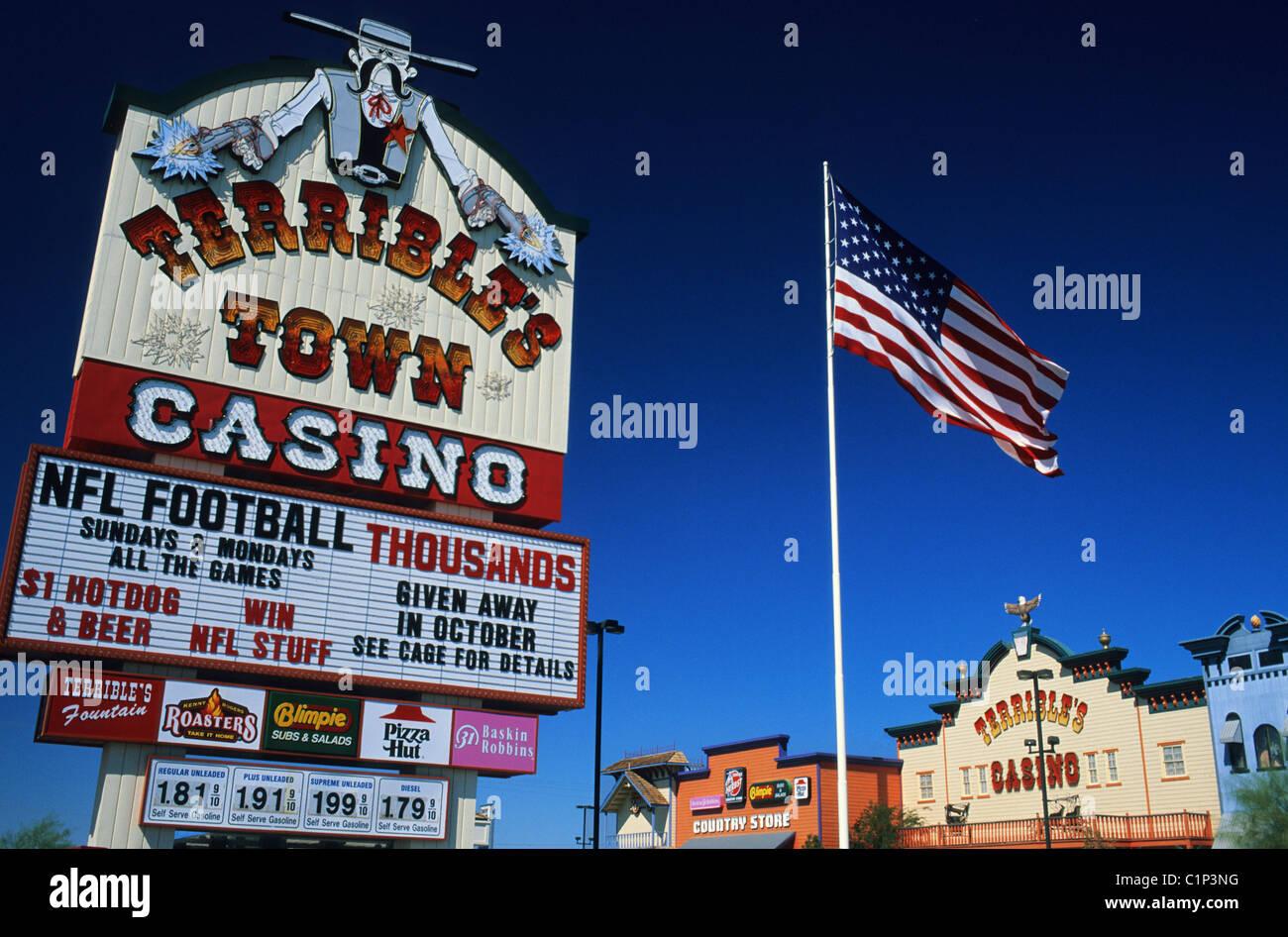 Stati Uniti, Nevada, Pahrump, casinò marchio sulla città di Pahrump Immagini Stock