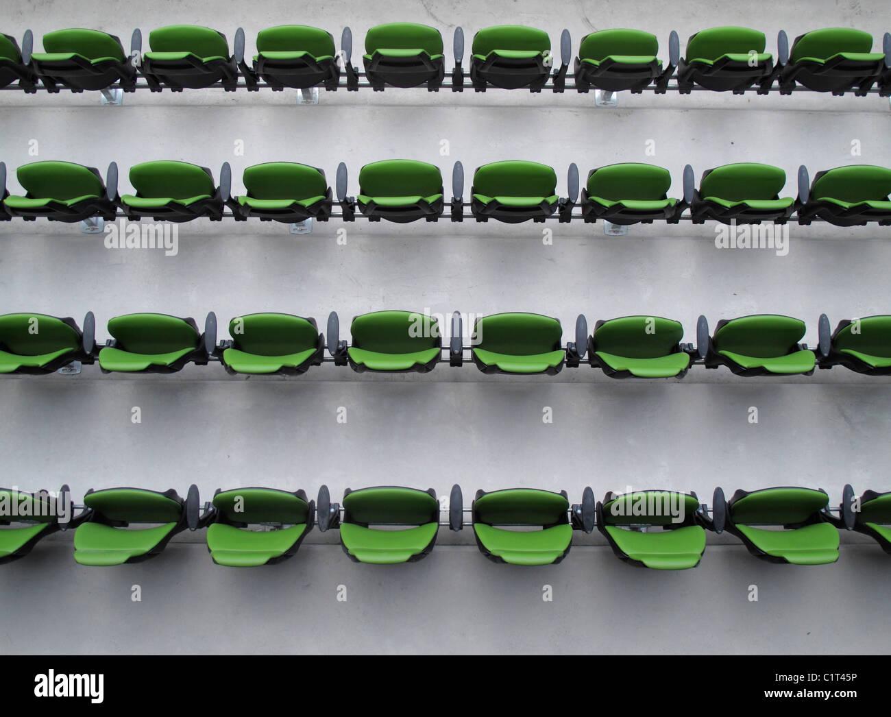 Posti a sedere stadio Immagini Stock