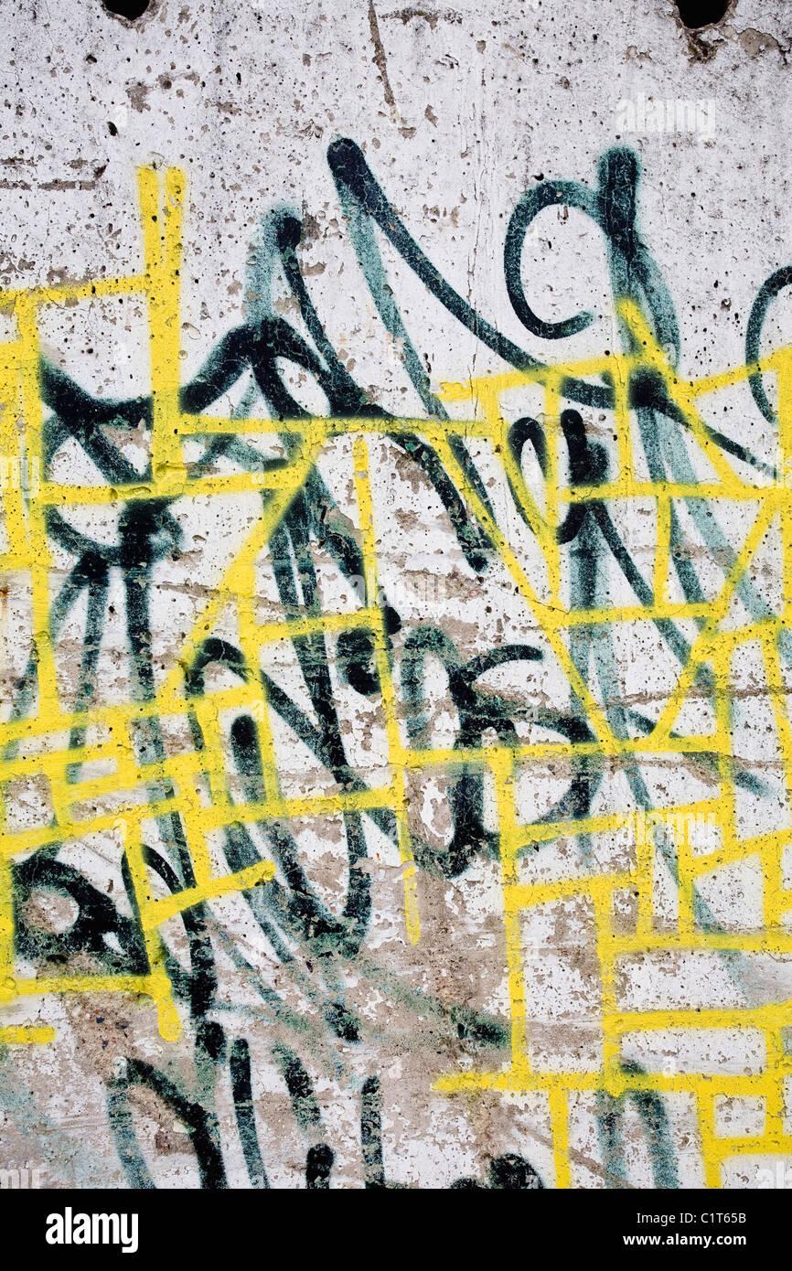 Graffiti, close-up Immagini Stock