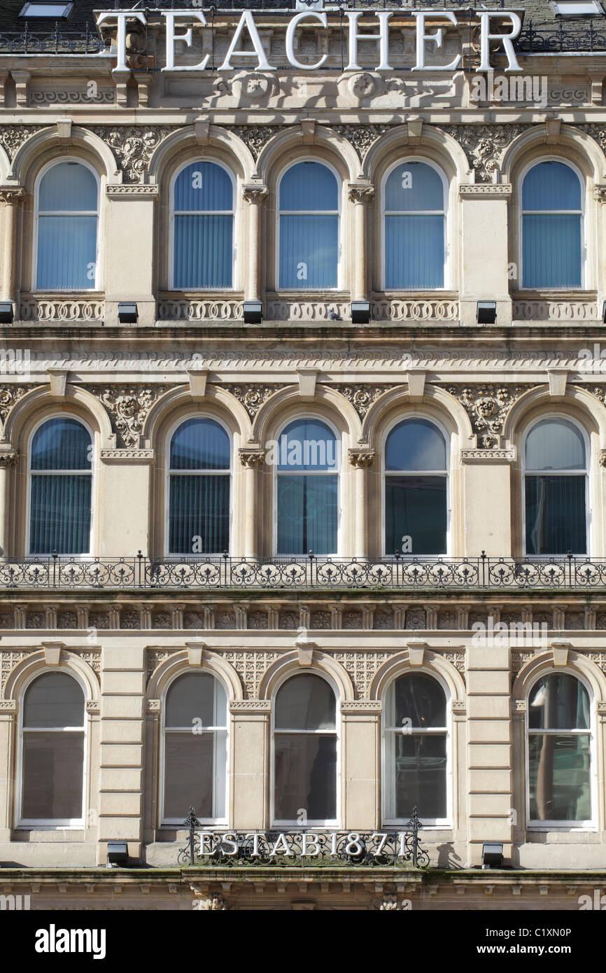 Un esempio di architettura vittoriana nel centro della città di Glasgow, Scotland, Regno Unito Immagini Stock
