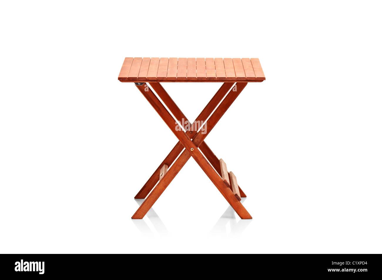 In legno tavolo pieghevole Immagini Stock