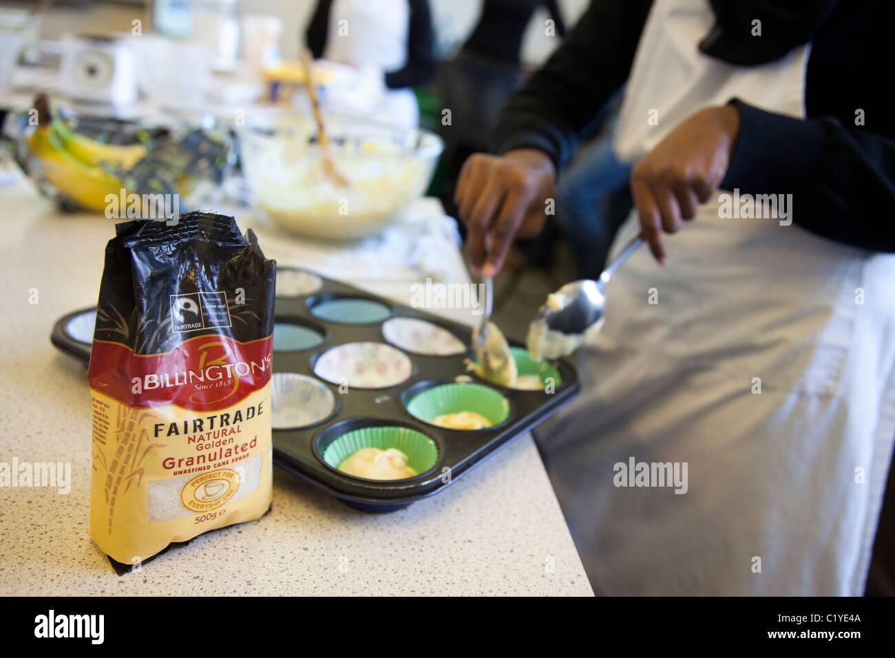 """La cottura di fairtrade """"commercio equo e solidale """" prodotti Immagini Stock"""