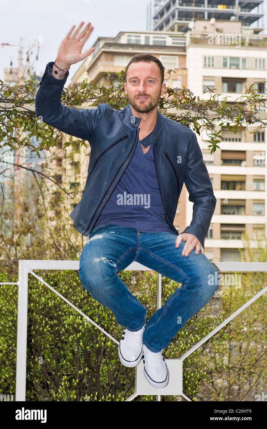 """04.04.2011, Milano. Photocall """"Ciak si gira...'. Francesco Facchinetti Immagini Stock"""