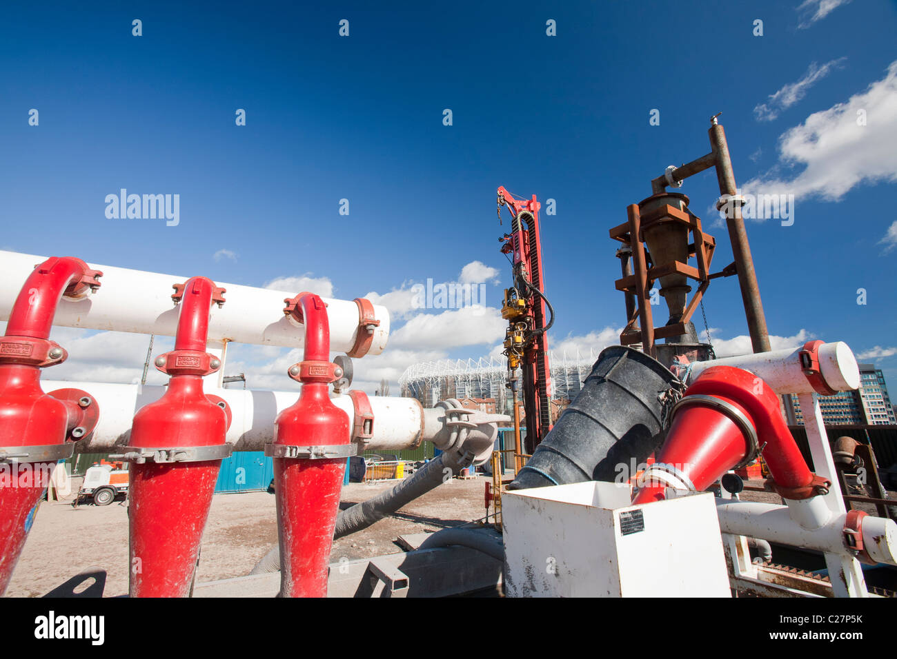 Un energia geotermica progetto dell Università di Newcastle, finanziata dal Dipartimento di Energia e cambiamento Immagini Stock