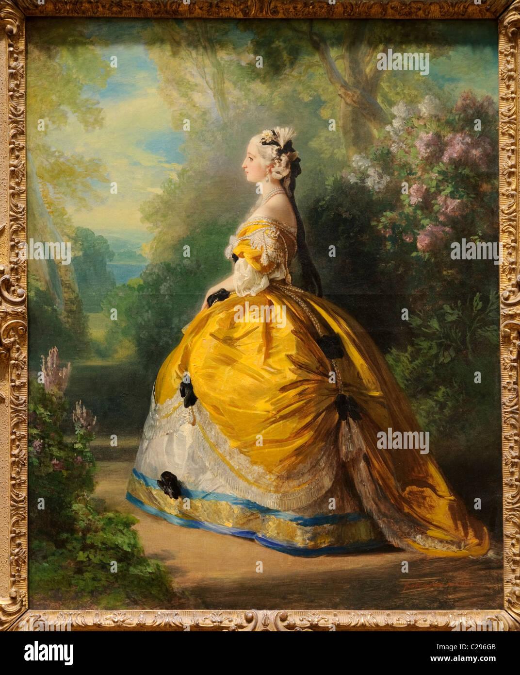 L'Imperatrice Eugénie, (Eugénie de Montijo, 1826-1920, Condesa de Teba), 1854, di Franz Xaver Winterhalter, Immagini Stock