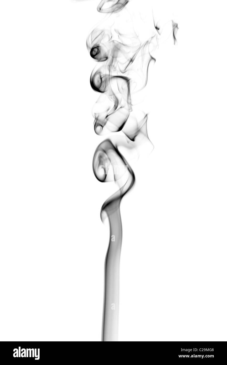 Bellissimo astratto modello di fumo isolato Immagini Stock