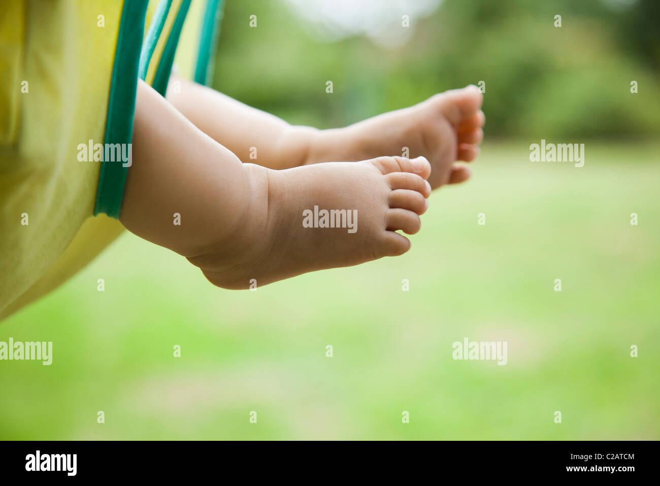 Piedi del bambino Immagini Stock