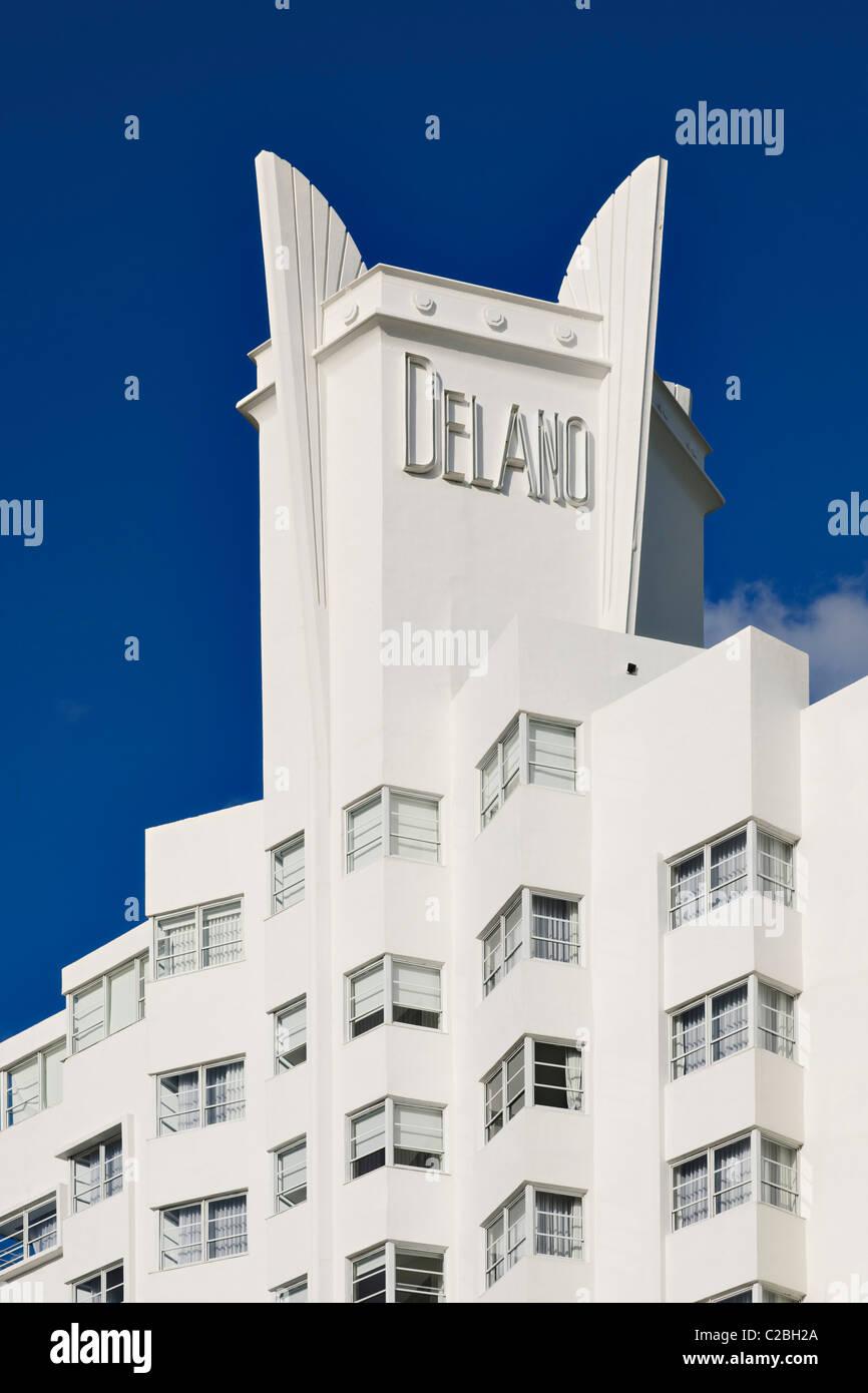 Delano Hotel, spiaggia di South Beach a Miami Immagini Stock