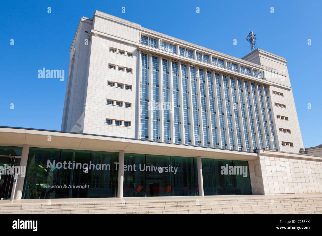 Newton e Arkwright edifici, Nottingham Trent University, Nottingham, Regno Unito Immagini Stock