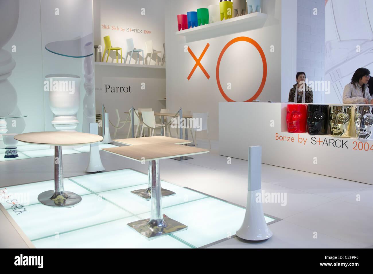 Salone del Mobile di Milano 2011, furniture fair, Starck design Immagini Stock