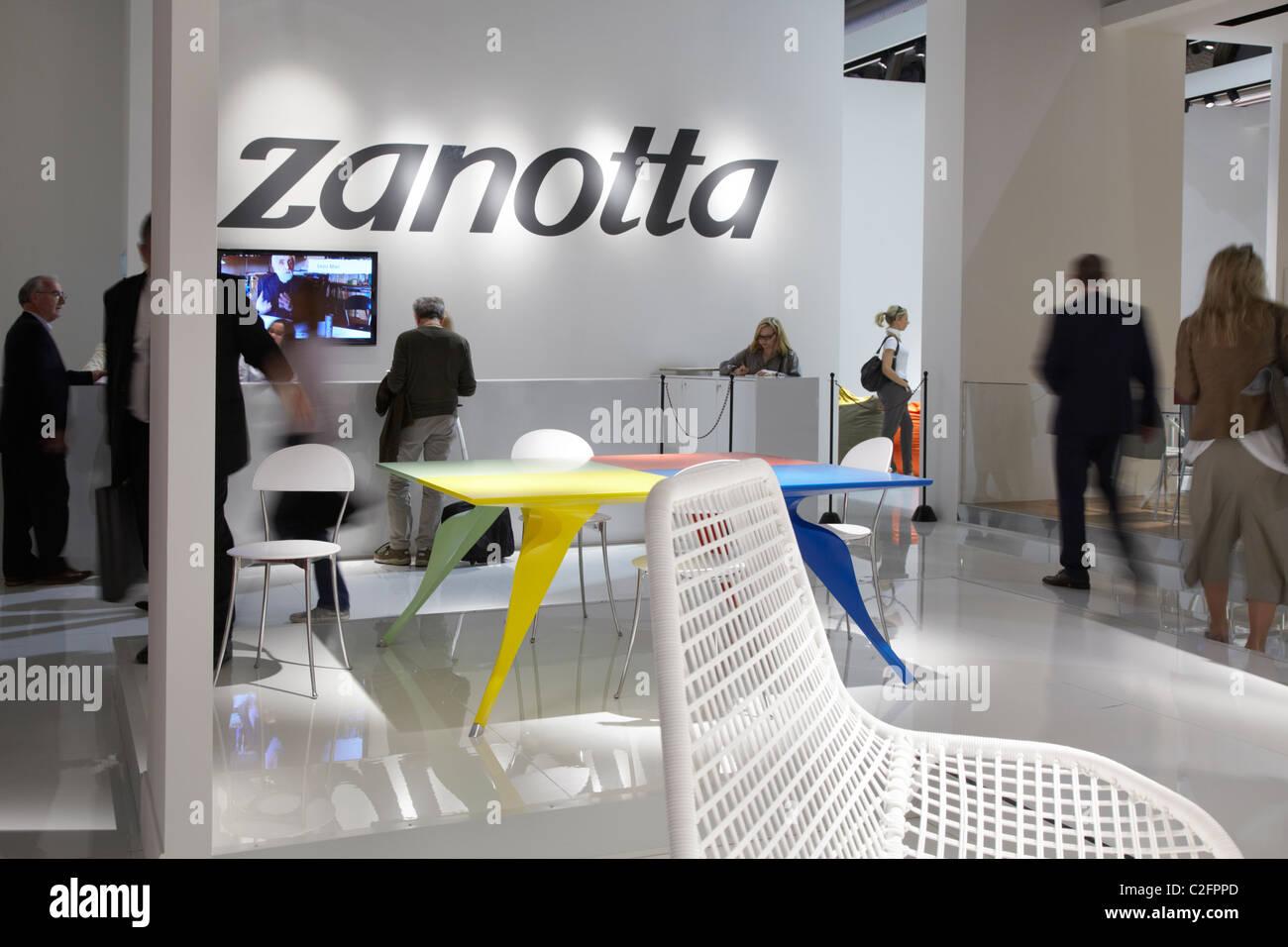 Salone del Mobile di Milano 2011, furniture fair, Zanotta stand Immagini Stock