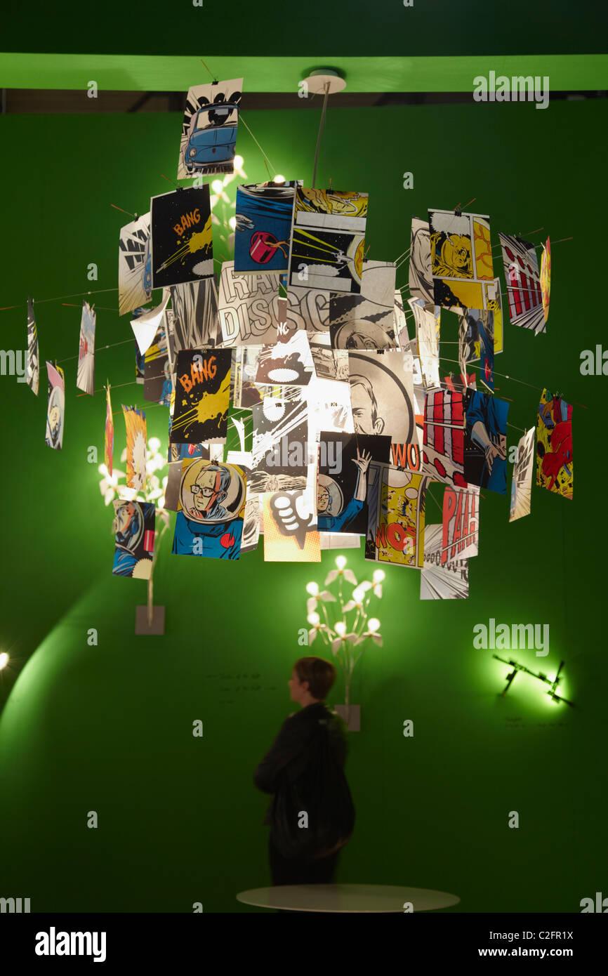 Salone del Mobile di Milano 2011, furniture fair, Ingo Maurer Immagini Stock