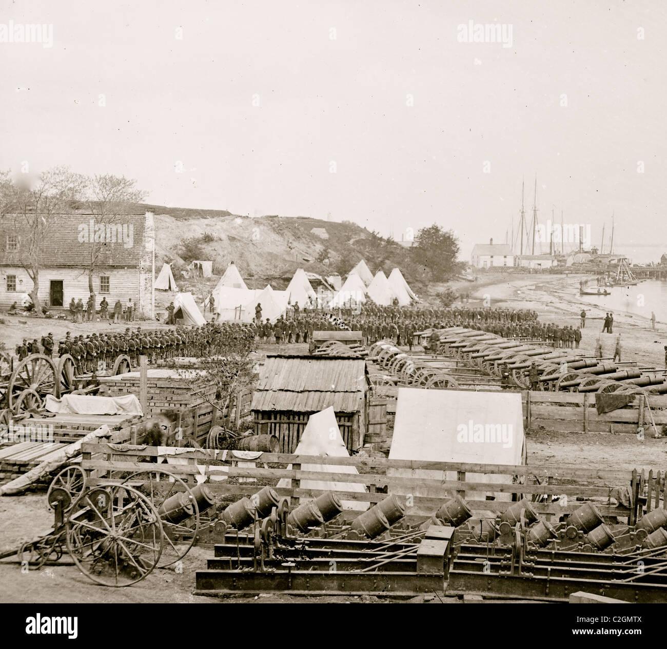 Yorktown, Va. federale parco di artiglieria Immagini Stock