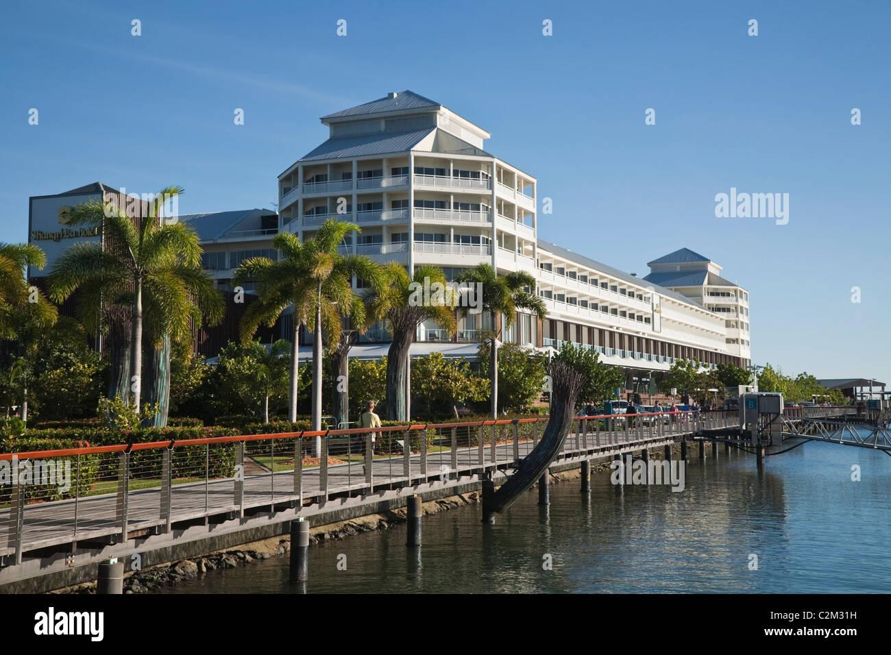 L'hotel Shangri-La a Marlin Marina. Cairns, Queensland, Australia Immagini Stock