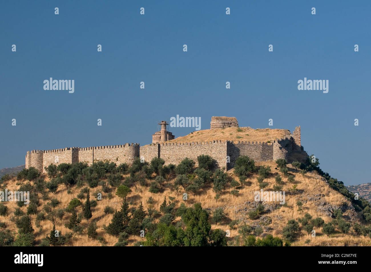 Storico castello di Selcuk Izmir, Turchia Immagini Stock