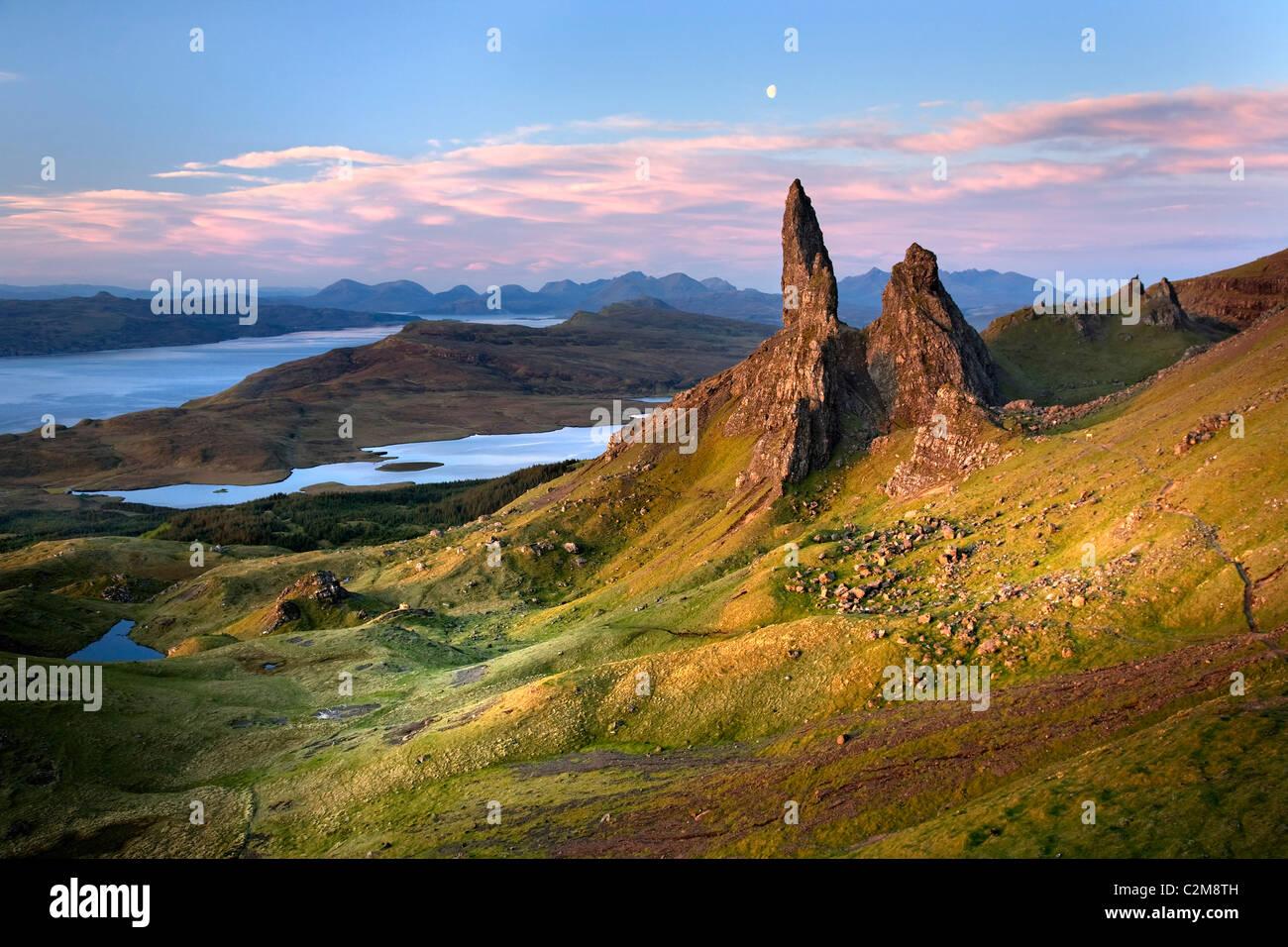 Il vecchio uomo di Storr, Isola di Skye Immagini Stock