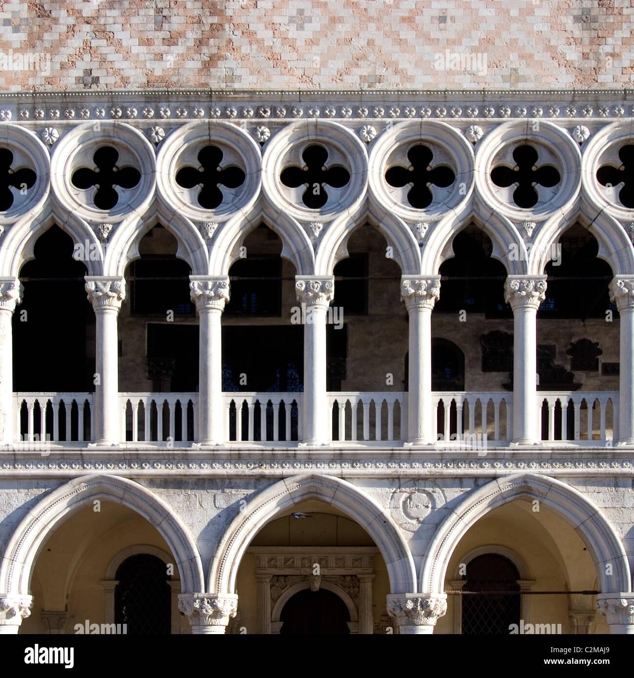 Palazzo Ducale), Venezia - dettagli architettonici Immagini Stock