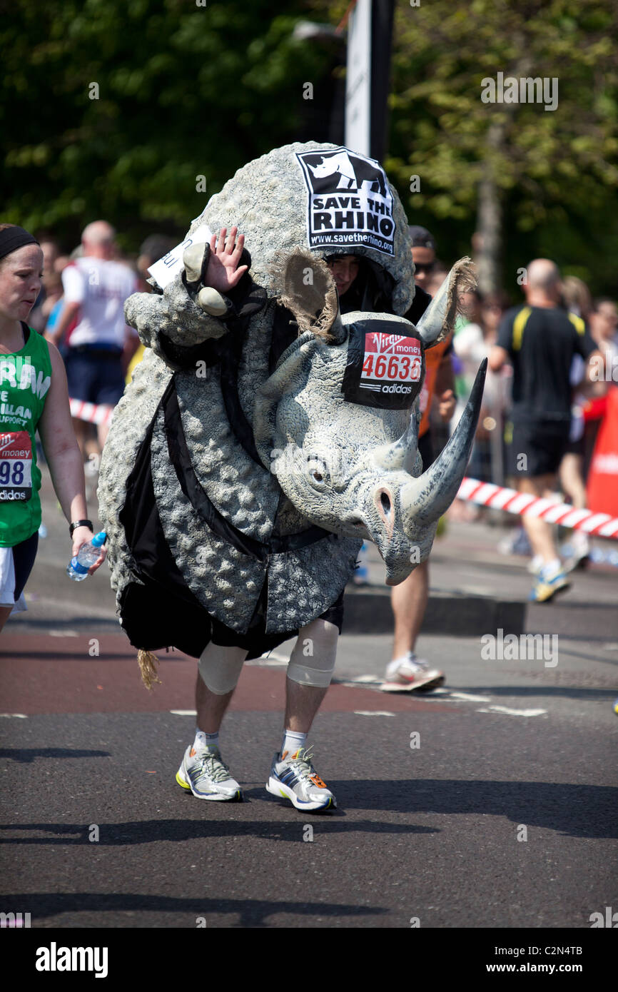 La Virgin London Marathon 2011 Immagini Stock