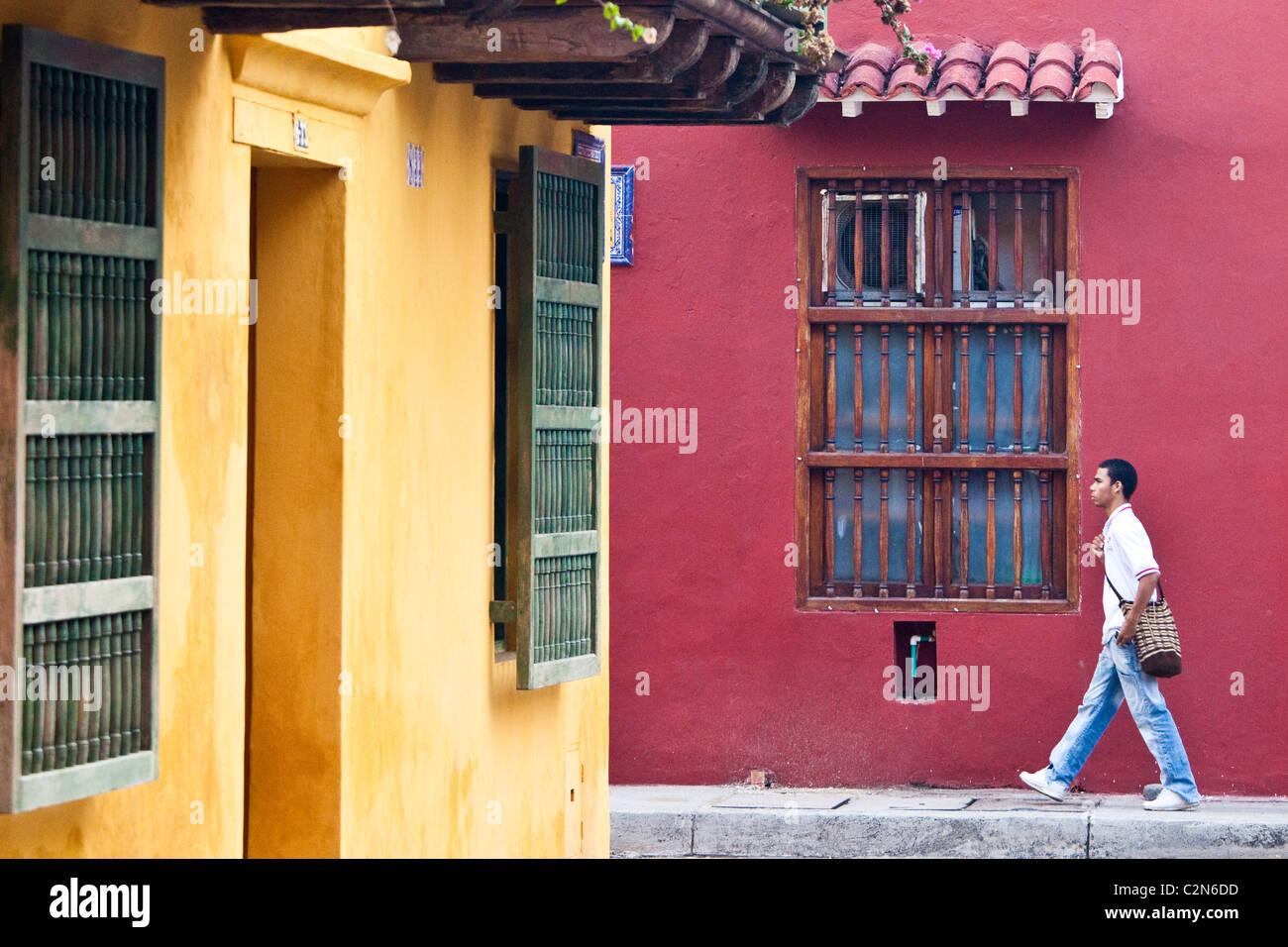 Città vecchia, Cartagena, Colombia Immagini Stock